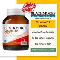 Blackmores Vitamin D3 - 1000IU isi 200 Capsules (Imported from Aussie)