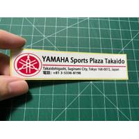 sticker Yamaha motor Dealer jepang