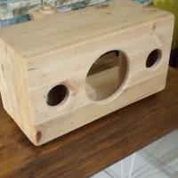 box speaker 6 inch kayu pinus
