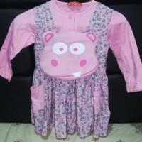 PReloved Baju muslim anak Rabbani xs 3th pink