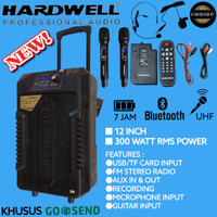 Speaker portable wireless meeting 12 INCH (SUARA MANTAB)