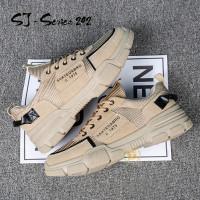 Sepatu Sneakers Pria Casual Hangout Kualitas Import Premium - Cokelat, 40