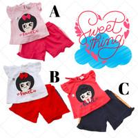 Baju Setelan anak cewek perempuan fashion pergi jalan H534 babybell