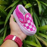 Sepatu anak Perempuan 1-3 Tahun Vans slip on catur pink Kids sz: 20-25 - 23