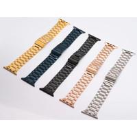 Strap Apple Watch Stainless Steel Logam Untuk Series 1 2 3 4 5 SE 6
