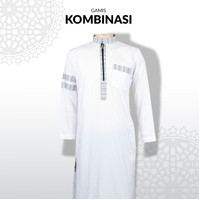 Baju Gamis Jubah Pria Songket Dewasa Kain YIMA Style Resliting