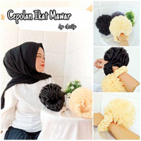 Cepolan Ikat Mawar Original / Cepol Hijab / Cepolan Barbie - Navy, super jumbo21cm
