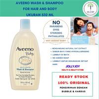 TERMURAH Aveeno Baby, Wash & Shampoo, Lightly Scented,Sabun Cair Baby