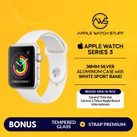Apple Watch Series 3 GPS 38mm Silver Aluminium with White Sport Band - BNIB