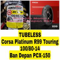 Corsa Platinum 100/80-14 R99 Touring - Ban Depan Motor PCX 150 Tubeles