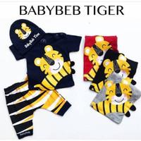 Baju setelan anak laki laki motif Tiger motif macan - Baju Bayi Laki