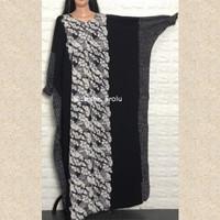 Kaftan gamis abaya baju muslim batik wanita jumbo panjang adem murah - Azalea