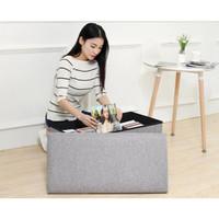 Sofa Tempat Duduk Storage Box Kursi Kotak Penyimpanan Compartment - 50x30x30cm