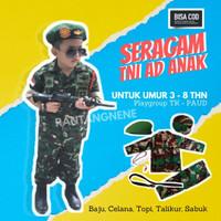 baju tentara anak laki laki dan perempuan baju profesi anak TNI-AD