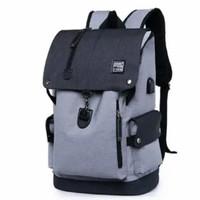 Tas Punggung Backpack UNISEX Ransel Laptop Trendy bahan Kanvas