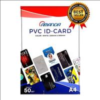Kertas PVC Bahan ID Card Instan 50 Sheet Merk Amanda