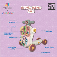 MASTELA Baby Walker - Activity / Push Walker, Play and Learn 5in1 Mode