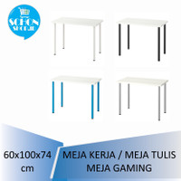 Meja Makan/ Meja Kerja /Meja Belajar Putih ADlLS LlNNMON 60x100cm