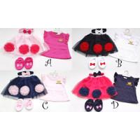 Baju Setelan anak cewek perempuan fashion pergi jalan H669 Babybell gk