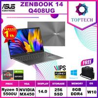 ASUS ZENBOOK 14 Q408UG Ryzen 5 5500U 8GB 256ssd MX450 2GB W10 14.0FHD
