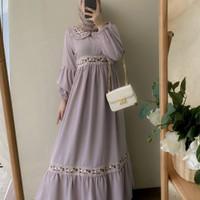 Baju muslim perempuan dewasa terbaru belova dress bordir gamis keknian