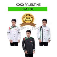 Baju Koko Pria Lengan Panjang Palestina Seragam Hadroh Santri Modern