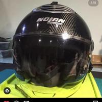 Helm Half Face Open Face Nolan N43 Carbon Kevlar Size L