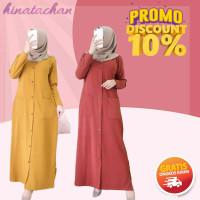 Baju gamis wanita terbaru / huzra dress murah / pakaian wanita remaja - millo, All Size