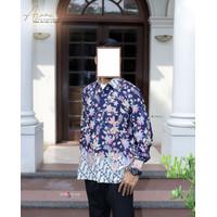 ARUMI Batik Navy Pria | Couple Batik | Ori | Batik Pria Terbaru |Batik