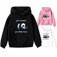 Baju Jaket sweater switer hoodie Anak cewek perempuan PANDA SLEEP MORE
