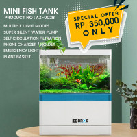 Aquarium Cupang / Mini / Aquarium USB Desktop / Ikan / Guppy - AZ002B