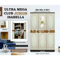 LEMARI PLASTIK 3 PINTU CLUB GANTUNG ULTRA MEGA JUNIOR KACA