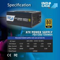 PSU1350 - PSU ATX 1350W PURE 80+ GOLD - MINING - INDOCASE