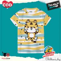 Kaos Baju Anak Balita Laki Perempuan Keren Katun Umur 1th-5th Terbaru - S (1th-2th), W047