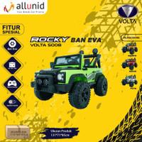 Mainan Anak Mobil Aki Jeep ROCKY BAN KARET - VOLTA 5008