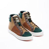 Sepatu Sneakers Kulit Pria Exodos57 Trav Brown