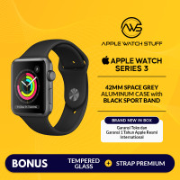 Apple Watch Series 3 GPS 42mm Space Grey Alum with Black Sport Band - Full Price