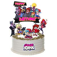 Topper Cake Birthday / Hiasan Kue Ulang Tahun Friday Night Funkin