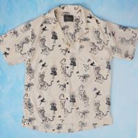 Bali Tiger Tropical Shirt - Cream, L