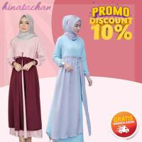 baju gamis wanita terbaru / new vania maxi dress remaja kekinian murah - rempel grey, All Size