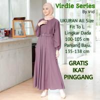Gamis Dress Wanita Dewasa Premium Bahan Adem Moscrepe Grade A - ungu lillac, al size to xl