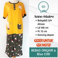 ANNE CLAIRE BABYDOLL 3/4 ALLSIZE BAHAN KAOS LD 108 PC 72
