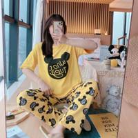 baju tidur piyama wanita stelan kaos CP import Big size