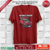 T Shirt Baju Kaos Pria Wanita Distro Original Premium Dtg Racing Car L