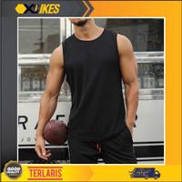 SL12 Singlet GYM - Kaos Gym Fitnes - Baju Training Fitness Pria