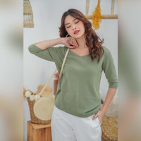 Vanya Knit Blouse Beatrice Clothing - Atasan Knit Wanita
