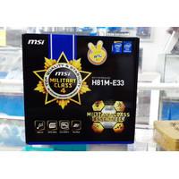 MSI H81M-E33 MOTHERBOARD iNTEL (LGA1150, H81, DDR3,HDMI, USB3)