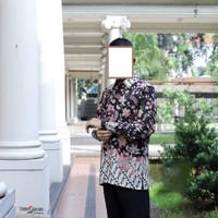 REAL PIC! | Arumi Batik Pria | Hitam | Couple Batik Termurah | New