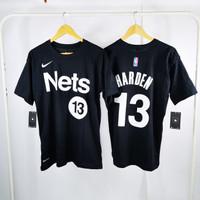T-Shirt Kaos Basket NBA Brooklyn NETS Earned Edition JAMES HARDEN #13