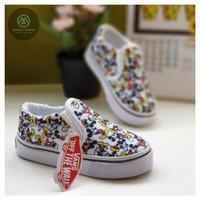 Sepatu anak perempuan vans slip on motif mickey mouese grade A - 20